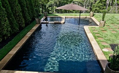 Geometric Pool by Anthony and Sylvan